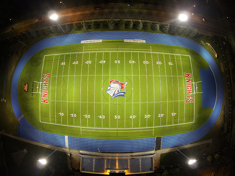 Football field in Detroit,the USA