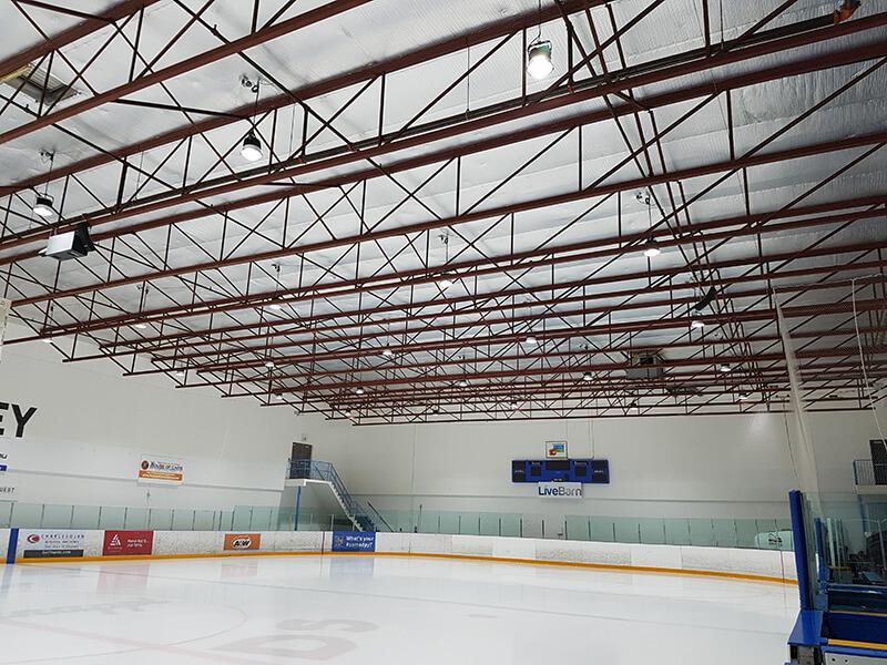 Hockey field in AB,Canada