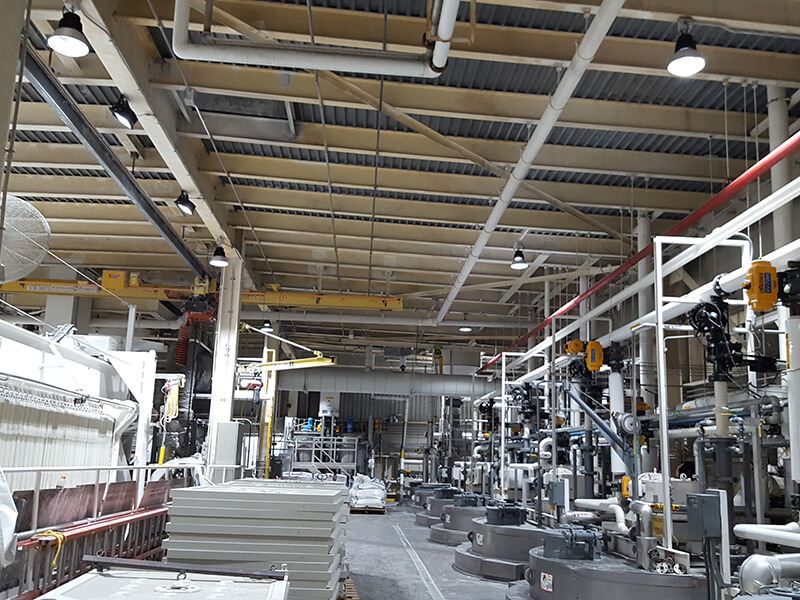 130W high bay replace 400W metal in US chemical plant