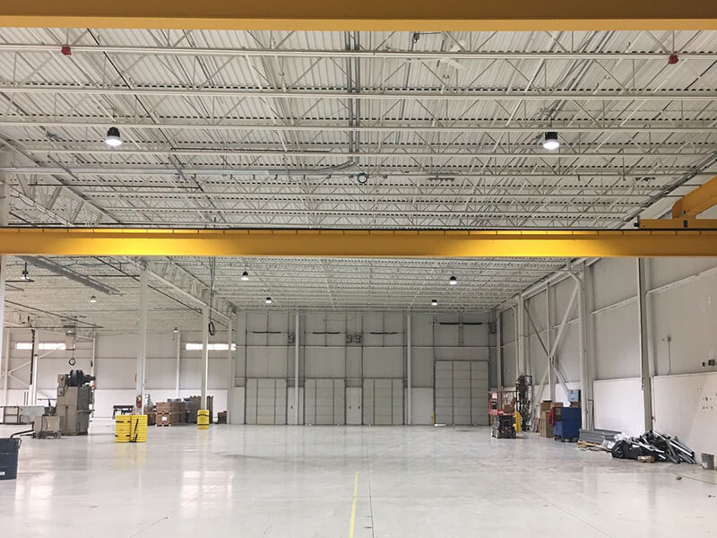 240W high bays replace 1.000W metal halides in Detroit,the USA