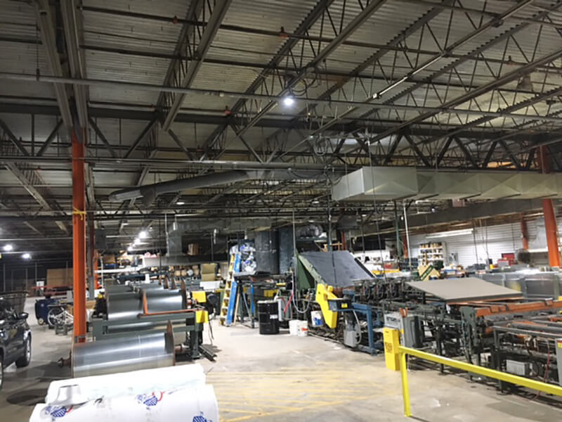 150W High Bays replace 400W metal halides in MO,the USA