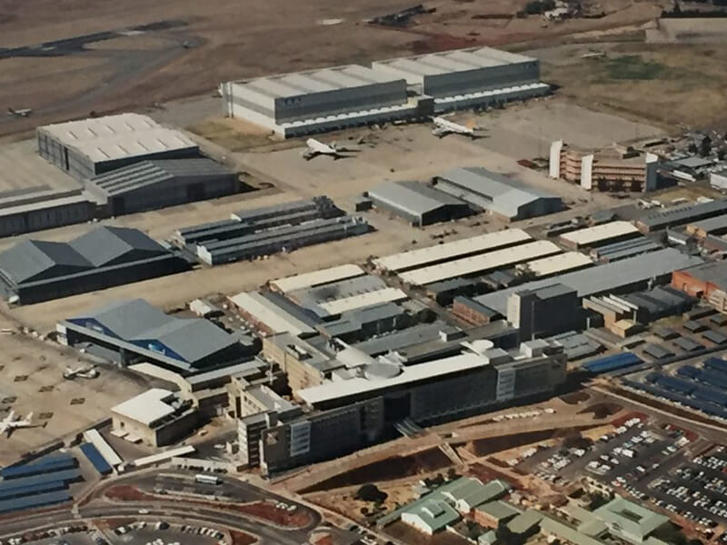 Airport in Johannesburg, South Africa